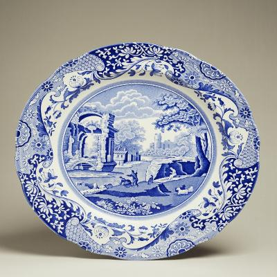 Plate Decorated with Landscape, Ceramic--Giclee Print