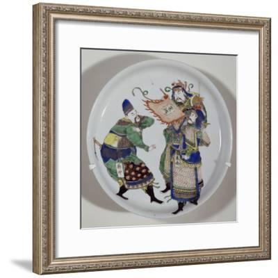 Plate Decorated with Three Heroes--Framed Giclee Print