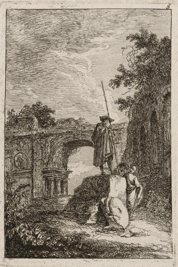 Plate Eight from Evenings in Rome, 1763-64-Hubert Robert-Giclee Print