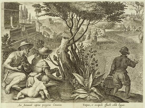 Plate from the Series Venationes Ferarum, Avium, Piscium, Fiandre--Giclee Print