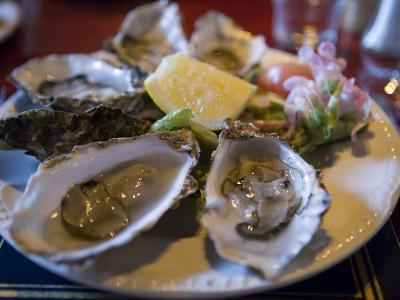 Plate Full of Oysters, Quay Cottage Seafood Restaurant, Westport, Ireland-Holger Leue-Photographic Print