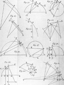 """Plate IV from """"The Mathematical Principles of Natural Philosophy"""" by Sir Isaac Newton 1777"""
