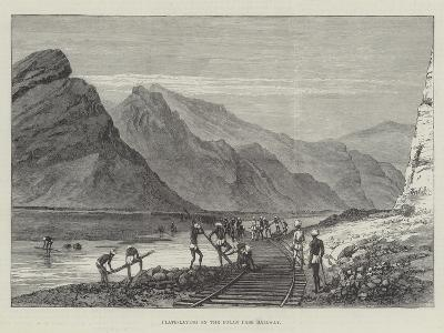 Plate-Laying on the Bolan Pass Railway--Giclee Print