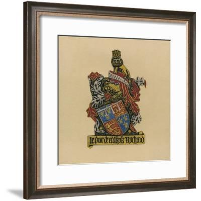 Plate LXXXIII - Sir Richard Plantagenet, Duke of York, K.G. 1475-1483, 1872--Framed Giclee Print