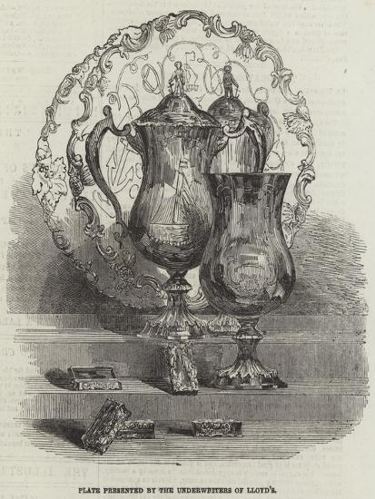 Plate Presented by the Underwriters of Lloyd's--Giclee Print