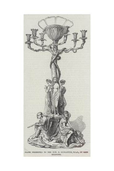 Plate Presented to the Honourable R Godlanton, Mlc, by Cape Colonists--Giclee Print