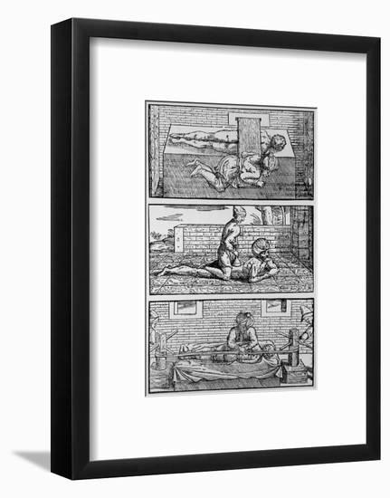 Plate Showing Avicenna's Cure for Spinal Fracture-Jeremy Burgess-Framed Premium Giclee Print
