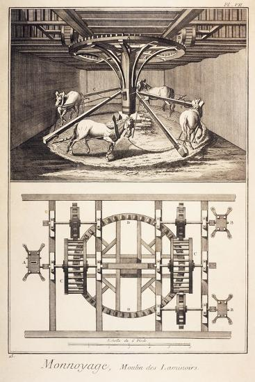 Plate Showing the Wheelwork of Rollers--Giclee Print