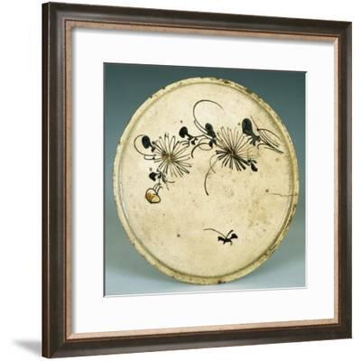 Plate Used as Base for Oil Lamp--Framed Giclee Print