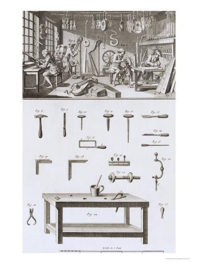 Plate XVIII: the Instrument Maker's Workshop and Tools-Robert Benard-Giclee Print