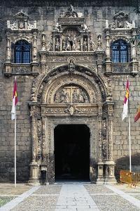 Plateresque Style Facade of Museum of Santa Cruz, Toledo, Castilla-La Mancha, Spain, 16th Century