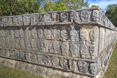 Platform of Skulls, Chichen Itza, Yucatan, Mexico, North America-Richard Maschmeyer-Photographic Print