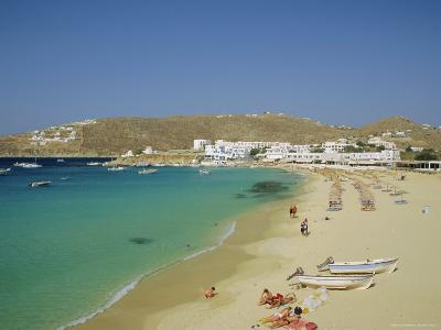Plati Yialos Beach, Mykonos, Cyclades Islands, Greece, Europe-Fraser Hall-Photographic Print