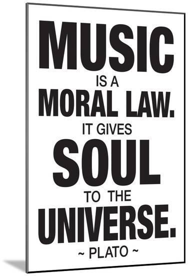 Plato Music--Mounted Print