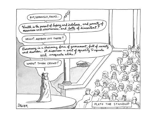 Plato The Standup - New Yorker Cartoon-Jack Ziegler-Premium Giclee Print