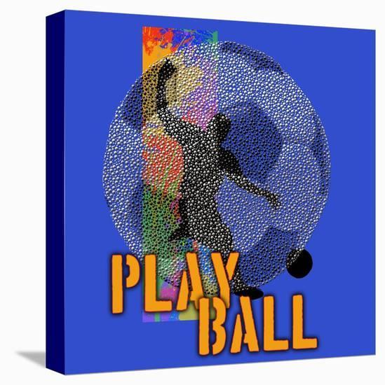Play Ball - Soccer-Jim Baldwin-Stretched Canvas Print