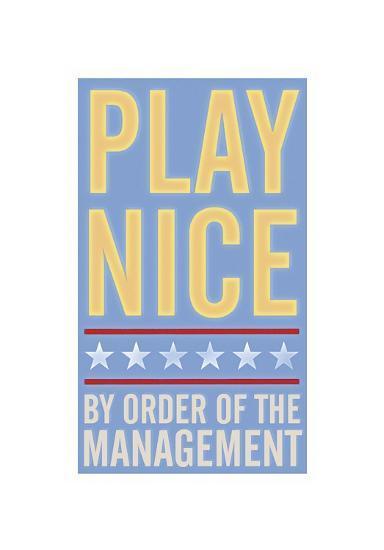 Play Nice-John Golden-Giclee Print