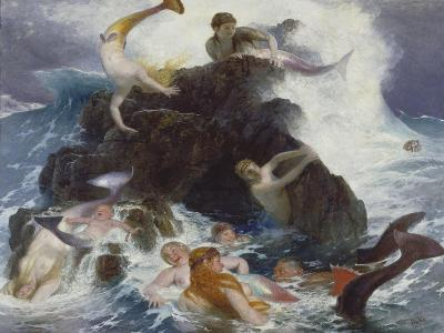Play of the Naiads, 1886-Arnold B?cklin-Giclee Print