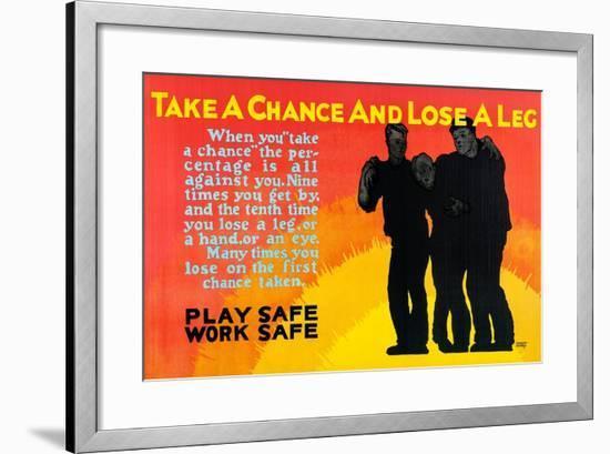 Play Safe Work Safe-Robert Beebe-Framed Art Print