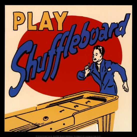 Play Shuffleboard--Art Print