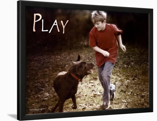 Play--Lamina Framed Art Print
