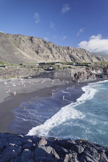 Playa De Charco Verde Beach, Puerto Naos, La Palma, Canary Islands, Spain, Atlantic, Europe-Markus Lange-Photographic Print