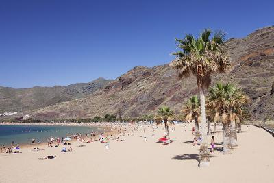 Playa De Las Teresitas Beach, San Andres, Tenerife, Canary Islands, Spain, Atlantic, Europe-Markus Lange-Photographic Print