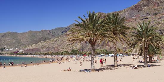 Playa De Las Teresitas Beach, San Andres, Tenerife, Canary Islands, Spain, Europe-Markus Lange-Photographic Print