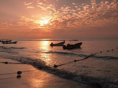 Playa Del Carmen Beach, Yucatan, Mexico-Walter Bibikow-Photographic Print