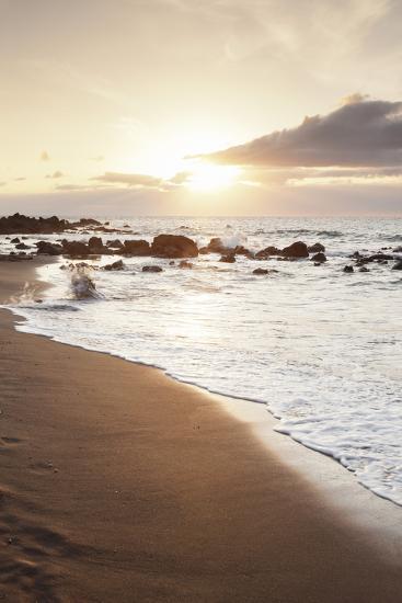 Playa Des Ingles, Beach, La Playa, Valle Gran Rey, La Gomera, Canary Islands, Spain, Atlantic-Markus Lange-Photographic Print