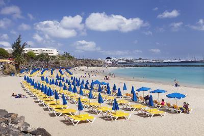 Playa Dorada Beach, Playa Blanca, Lanzarote, Canary Islands, Spain, Atlantic, Europe-Markus Lange-Photographic Print