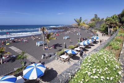 Playa Jardin Beach, Puerto De La Cruz, Tenerife, Canary Islands, Spain, Atlantic, Europe-Markus Lange-Photographic Print