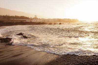 Playa Jardin Beach, Punta Brava at Sunset, Puerto De La Cruz, Tenerife, Canary Islands, Spain-Markus Lange-Photographic Print