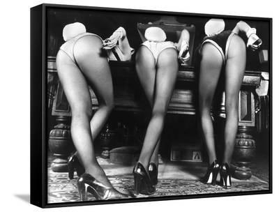 Playboy Bunnies Will Challenge Press Club Rabbits at the Press Club, February 1978--Framed Canvas Print