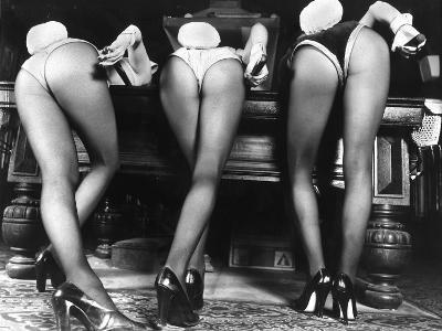 Playboy Bunnies Will Challenge Press Club Rabbits at the Press Club, February 1978--Photographic Print
