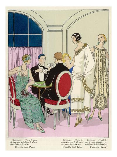 Players and Spectators Wear Elegant Creations by Jean Patou, Paul Poiret and Doucet--Giclee Print