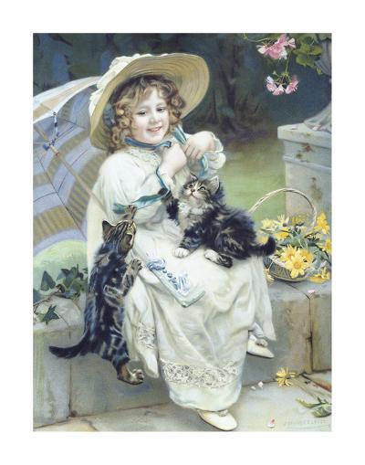 Playful Kittens-Arthur Elsley-Premium Giclee Print
