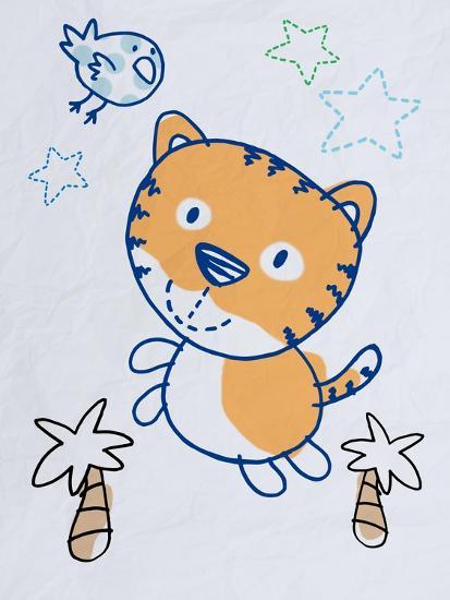 Playful Tiger-Marcus Prime-Art Print