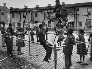 Playground Scene from the Slums of Baltimore