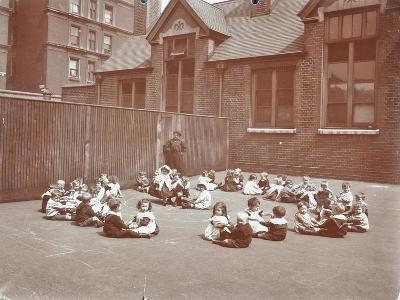 Playground Scene, Hugh Myddelton School, Finsbury, London, 1906--Photographic Print