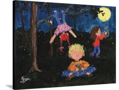 Playing At Night-Terri Einer-Stretched Canvas Print
