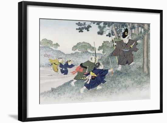 Playing at Warriors from the Series 'Children's Games', 1888-Kobayashi Eitaku-Framed Giclee Print