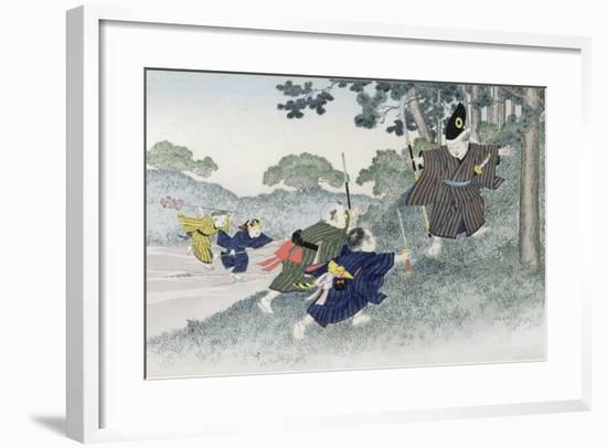 Playing at Warriors from the Series 'Children's Games', 1888-Kobayashi Eitaku-Framed Giclee Print