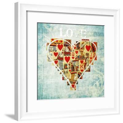 Playing Card Love-Tom Quartermaine-Framed Giclee Print
