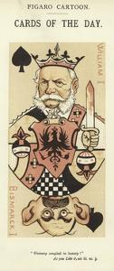 Playing Card with William I and Otto Von Bismarck