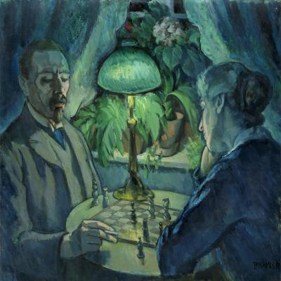 Playing Chess, 1925-Jean Paul Kayser-Giclee Print