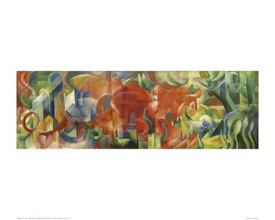 Playing forms-Franz Marc-Giclee Print