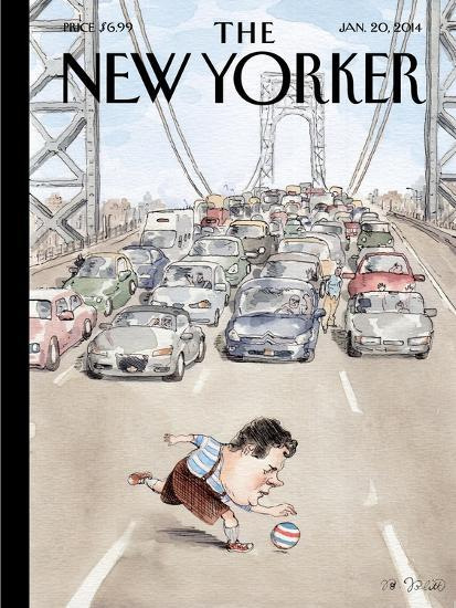 Playing in Traffic - The New Yorker Cover, January 20, 2014-Barry Blitt-Premium Giclee Print