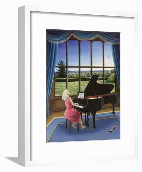 Playing Mozart-Liz Wright-Framed Giclee Print