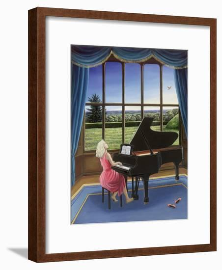 Playing Mozart-Liz Wright-Framed Giclee Print